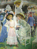 Oscar Arthur Bluhm. Elegant Ladies at the Races